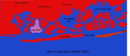 Hurricane Destroys Hog Island, NYC